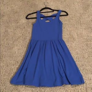 Frenchi Dress Royal Blue